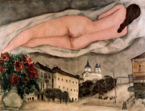 Marc Chagall: nude over-Vitebsk,1933