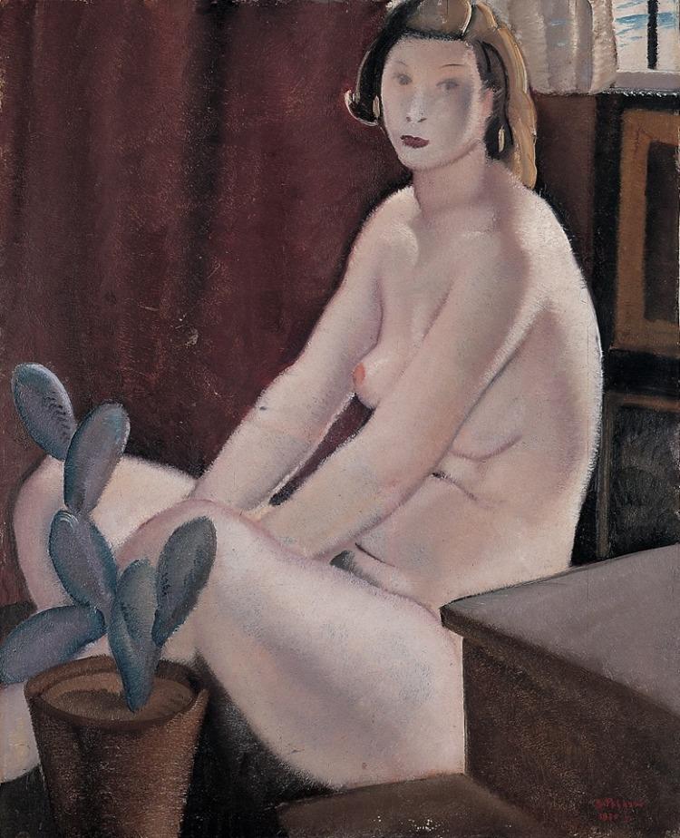 The Model  -   Bernardino Palazzi , 1930