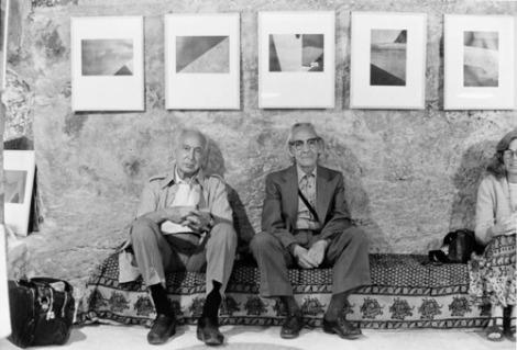 André Kertész and Manuel Alvarez Bravo, Arles, 1979 -by Jean Dieuzaide