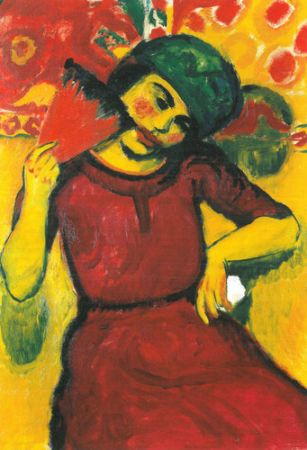Hermann Max Pechstein's Young Woman With Red Fan