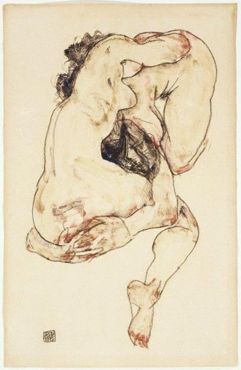 Study of a couple, Egon Schiele 1890-1918