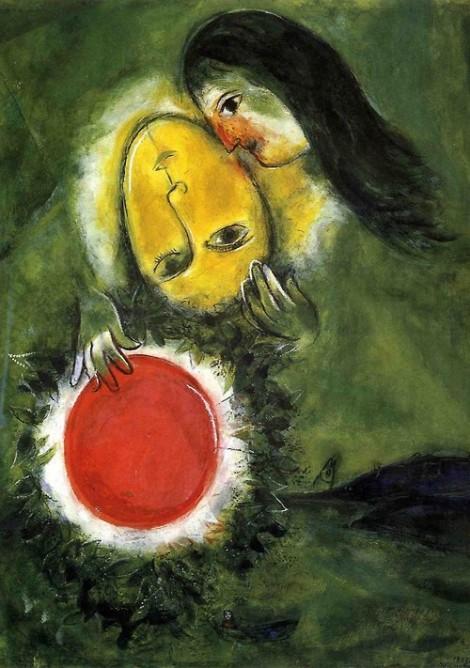 1949 marc chagall Paysage Vert  Gouache sur papier  77x56 cm  Bâle, Markus Diener