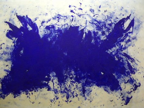 Yves Klein- Great blue cannibalism tribute to Tennessee Williams