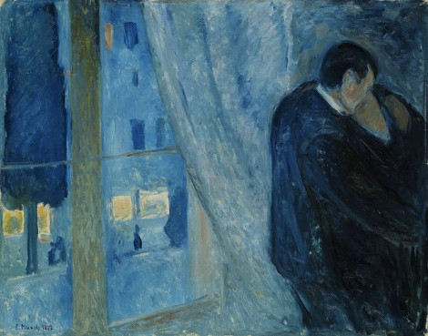 Edvard Munch - Kiss by the Window, 1892