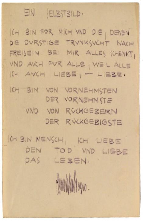 Ein Selbstbild - Egon Schiele