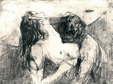 The kiss - Edvard Munch
