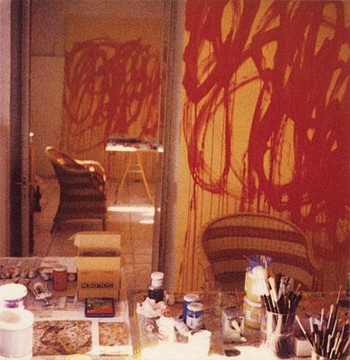 Bacchus painting studio Gaeta 2005