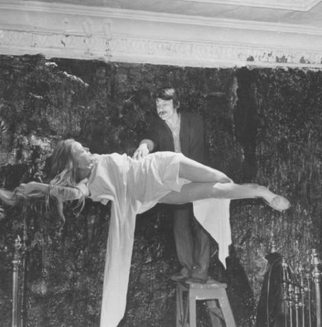 Andrei Tarkovsky & Margarita Terekhova on the set of The Mirror (1975, dir. Andrei Tarkovsky)