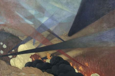 """""""Verdun, nuées de gaz"""" (détail), de Félix Vallotton, 1917"""