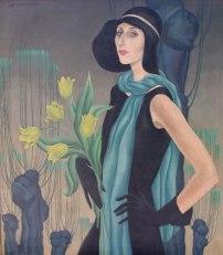 Portrait of Kay oil on canvas circa 1927