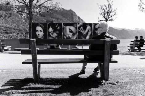 Sitting on a park-bench by Reinfried Marass