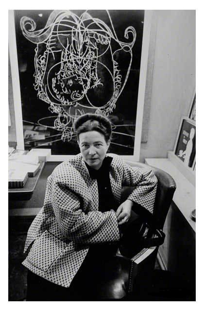 Simone de Beauvoir, Chicago, 1950. Photo Art Shay.