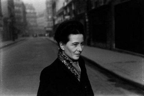 Simone de Beauvoir par Henri Cartier-Bresson, Paris, 1952