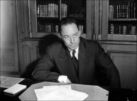 French writer Albert Camus is seen posing for a portrait in Paris. (AFP-Getty Images - October 17, 1957)