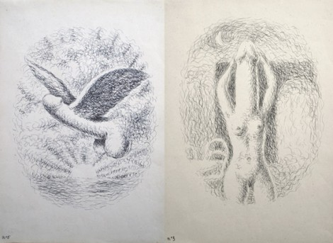 Rene Magritte's illustrations for Madame Edwarda, 1946, in