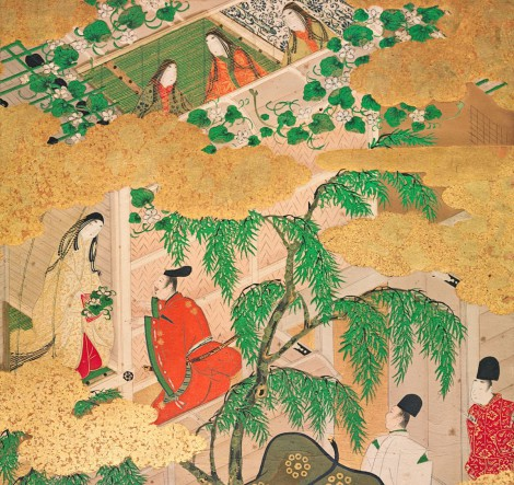 """YÛGAO, ILLUSTRATION TO CHAPTER 4 OF GENJI MONOGATARI"" (C. 1650) / HARVARD ART MUSEUMS"