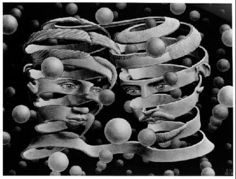 "MC Escher ""Bond of Union ""1956 Lithograph"