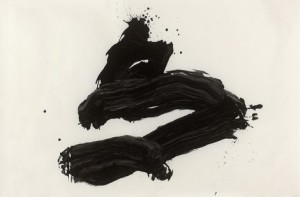 tori (bird), 1978, ink on paper, 121 x 183 cm