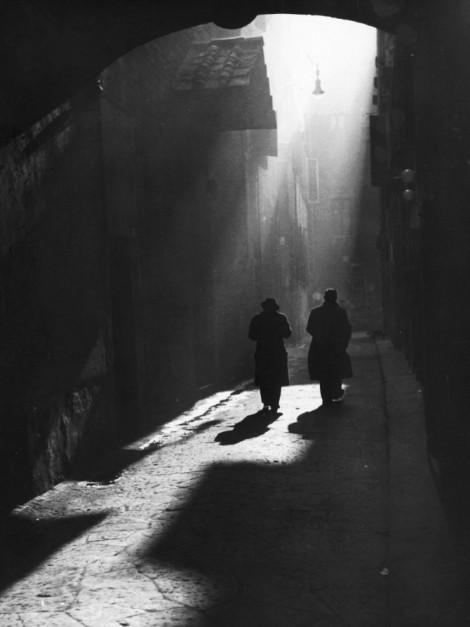 Vicenzo Balocchi : Little street in Florence, 1960