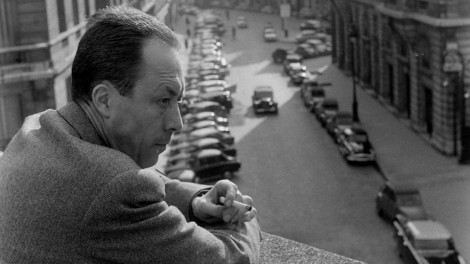 French author and philosopher Albert Camus (1913-1960) on a terrace outside his Paris office in 1957. Photograph: Loomis Dean/Time & Life Pictures/Getty Images