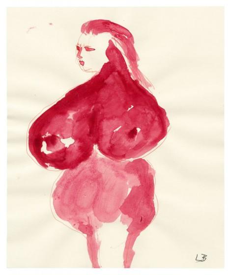 femme rouge 1