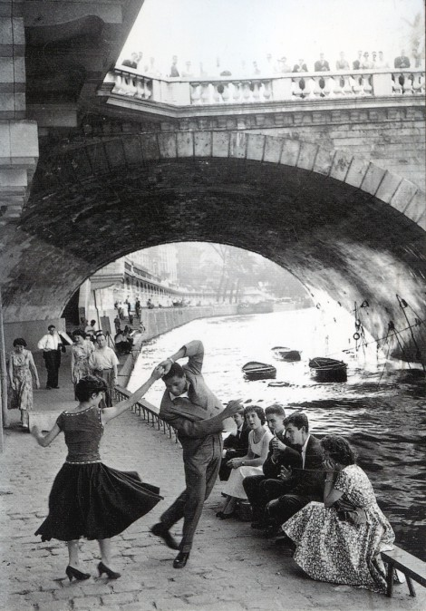 Rock n Roll sur les Quais de Paris late 1950s Photo by Paul Almasy