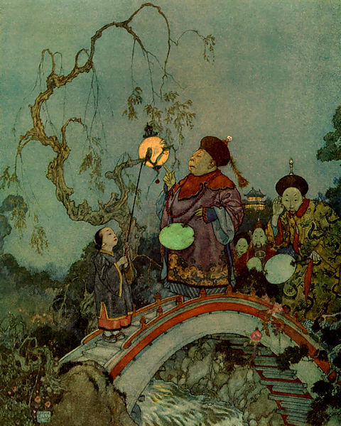 "The Nightingale (1911) in ""Stories from Hans Andersen by Hans Christian Andersen with illustrations by Edmund Dulac"